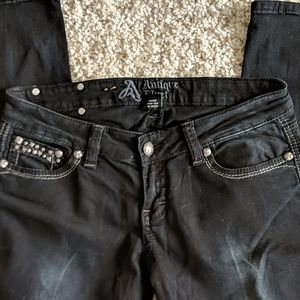Antique Rivet black jeans